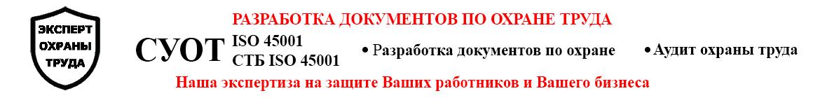 Услуги по охране труда, разработка СУОТ, документы и аудит охраны труда
